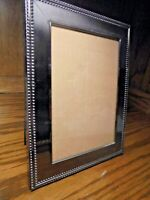 """Silver-Tone Elegant Photo Frame Holds 5"""" x 7"""" Picture Free-Standing Decor    111"""