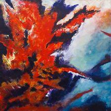 Superbe original Bryony Harrison incendie de forêt i inferno peinture abstraite
