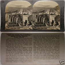 Keystone Stereoview of an Ancient Greek Theater in SICILY From 600/1200 Card Set