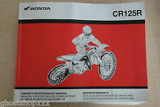 69kz4690 00x69-kz4-6900 Honda manual del propietario CR125R 3