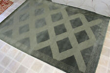 RT77 HANDMADE CONTEMPORARY TIBETAN RUG 4' X 6' GREEN COLOR, MADE IN NEPAL