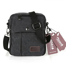 Men's Vintage Multifunction Canvas Shoulder Messenger Bag Travel Croosboby Bag