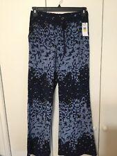 533a3bdca6 NWTJessica Simpson Piper Pants Floral Blue M Polyester Indigo Denim/ Tint  Finish