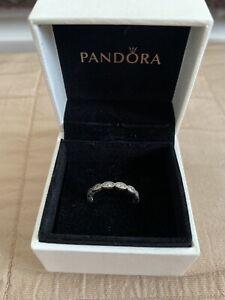 New Genuine Pandora Shimmering Leaves Ring - Size 50