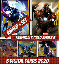 Topps Marvel Collect Award + Set (1+4) Essentials gold series 5 2020 Digital
