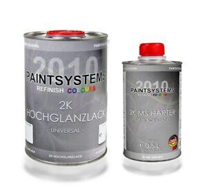 1 Liter 2K Acryl Autolack RAL freie Auswahl + 0,5 Liter Härter im Set glänzend