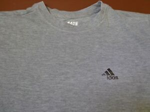 Adidas The Go-To Tee Shirt Size Youth XL   Gray    Z4