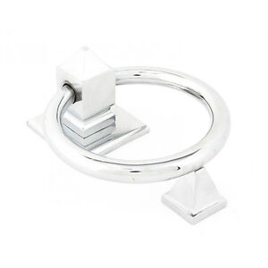 ANVIL 83837 POLISHED CHROME RING DOOR KNOCKER TRADTIONAL PERIOD (ATC1)