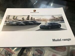 Porsche Model Range Sales Brochure Genuine 2016