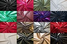 Pleather Faux Leather Vinyl Stretch Polyester Lycra Spandex Fabric BTY
