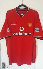 MAN UTD FOOTBALL SHIRT 2000/02 Home ~ Solskjaer 20 Charity Shield
