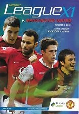 Football Programme>AIRTRICITY LEAGUE XI v MAN UTD Aug 2010 Aviva Stadium Opening