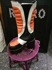 NEW genuine El Dantes leather Orange/Black/White Boots size 37,38,39,40 Europe
