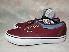 New Vans Authentic Pro Canvas Port Red White Skate Ultra Cush Shoe Men Size 7.5