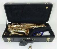 Yanagisawa Alto Saxophone Circa 1996 Gold Lacquer Bb Brass Wind Instrument Music