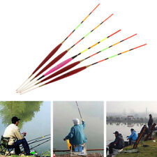 5 Pcs Fishing Float Night Luminuous Tackle Glow Stick Wood Accessories With Lead