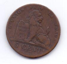 1834 Belgium 5 Centimes Copper Coin België Belgique Belgien Belges