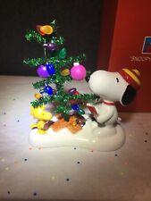DEPARTMENT 56 Peanuts SNOOPY Singing Christmas Carols with Woodstock NIB
