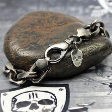 JJJ LA Braclet Armband Anker Muster Ankerkette 10 mm 925er Silber geschwärzt NEU