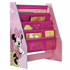 MINNIE MOUSE SLING BOOKCASE CHILDRENS BEDROOM MDF PINK NEW OFFICIAL FREE P+P