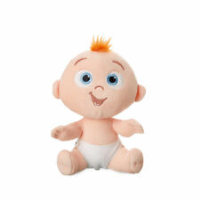 "DISNEY STORE INCREDIBLES 2 JACK-JACK PLUSH BABY 7"" TUFTED RED HAIR CLOTH DIAPER"