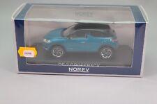 ZE298 NOREV 1/43 Citroën DS3 Crossback 2019 Blue & Black roof Ref 170021 NB