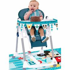 Baby Mickey Mouse 1st Birthday High Chair Decorating Kit Disney Amscan