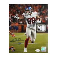 Evan Engram Signed New York Giants Stiff-Arm 8x10 Photo (JSA)