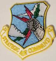 "US AIR FORCE  SAC  ""STRATEGIC AIR COMMAND"" PATCH   3"" wide x 3"" tall"