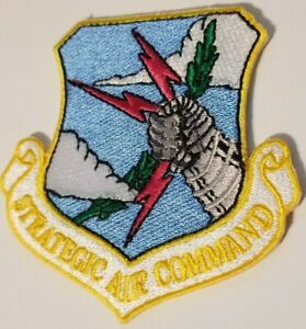 """US AIR FORCE  SAC  """"STRATEGIC AIR COMMAND"""" PATCH   3"""" wide x 3"""" tall"""