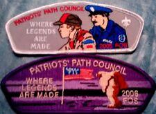 "PATRIOTS PATH COUNCIL, NJ  ""WHERE LEGENDS ARE MADE"" FOS 2005 TA-17 & 2006 SA-19"