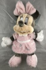 """New listing Disney Parks Long Pile Baby Minnie Mouse 9"""" Rattle Plush Stuffed Toy - New"""