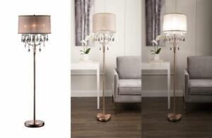 OK LIGHTING OK-5126F OK-5126f Rosie Crystal Floor Lamp Deer Antler Copper