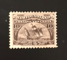 Stamps Canada Newfoundland Sc68 10c Cabot's Ship of 1897, Pl see description.