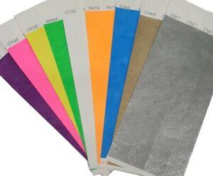 Wristbands Plain Tyvek Paper bracelets 25mm 1 Inch Choose Colours Event Bands