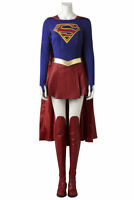 Supergirl Kara Zor-El Danvers Fancy Dress Outfit Props Halloween Cosplay Costume