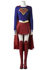 Supergirl Kara Zor-El Danvers Fancy Dress Outfit Props Halloween Cosplay Costume