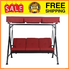 Porch Swing Canopy Patio Steel 3-Person Adjustable Frame Outdoor Bench Stand