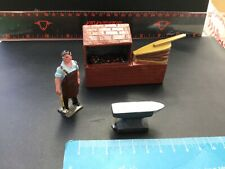 Vintage Johillco Lead Tradespeople. Blacksmith At Furnace With Anvil. 1/32 Scale