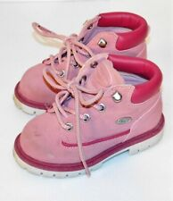Infants Baby Girls Pink Suede Lugs Boots sz 7