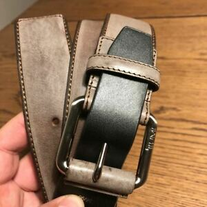 Tumi Leather Belt 015972 MADE IN FRANCE Brown