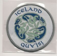 Country of Iceland Souvenir Patch Dragons