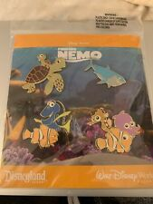 Nwt Disney Finding Nemo Pin Set Booster Collection Set 4 Pins Sealed