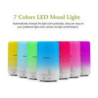 Mini Cool Mist Humidifier Ultrasonic Aroma Essential Oil Diffuser 7 colors Light