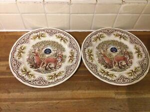Royal Stafford Homeland Foxes Dinner Plates X2 - BRAND NEW.