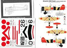 CLASSIC AIRFRAMES DECALC /STIKERS  MITSUBISHI A5M4  CLAUDE 1/48