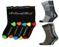 Mens Crosshatch 5 Pack Designer Socks Colourful Summer Size 6-12 UK Xmas Gift
