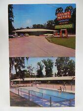 Vintage Roadside Americana Postcard - Palms Motel & Restaurant, Baton Rouge, LA