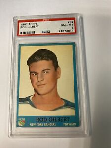 1962 topps rod gilbert #59 rookie psa 8 nm-mt