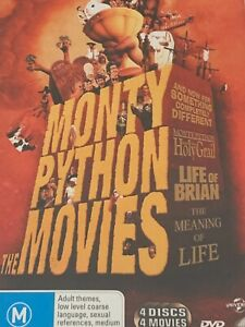 Monty Python The Movies, 4 Discs DVD Like New